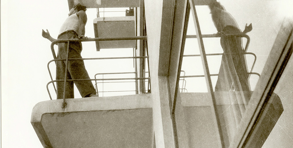 Marianne Brandt - Student on one of the atelier balconies - Bauhaus Dessau around 1928-1929