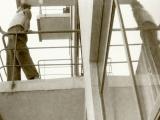 Marianne Brandt - Student on one of the atelier balconies - Bauhaus Dessau around 1928-1929